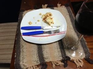 Pizza com vinho.